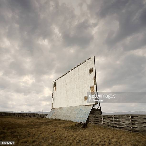 Abandoned Drive-In Movie Theater Screen