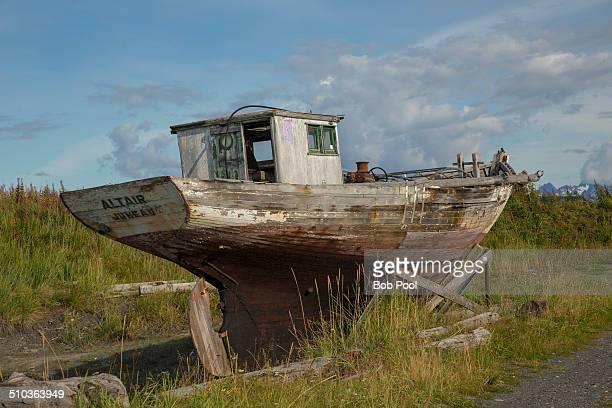 Abandoned fishing boat, Homer