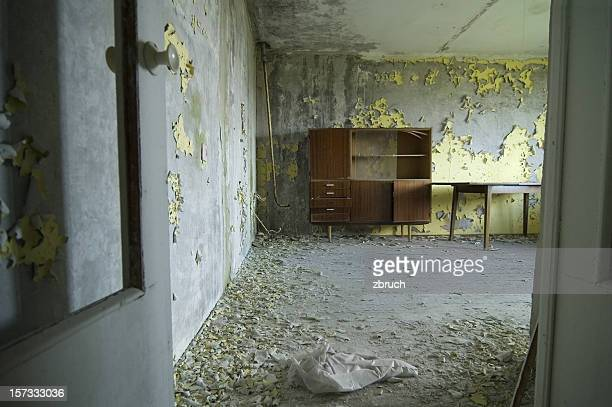 abandoned flat in one of Chernobyl apartment house