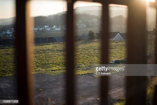 abandoned football pitch - the championship football league stock pictures, royalty-free photos & images