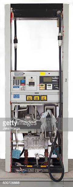 abandoned fuel pump, studio portrait - jake warga stock pictures, royalty-free photos & images