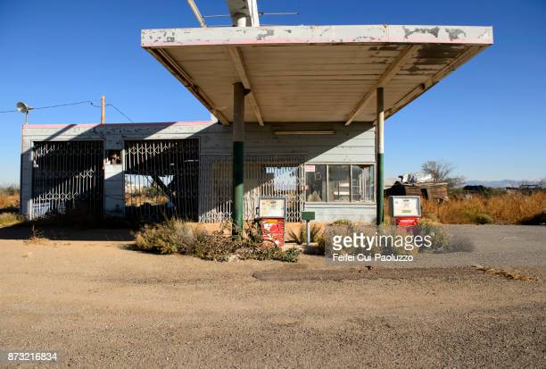 Abandoned gas station at San Simon, Arizona, USA