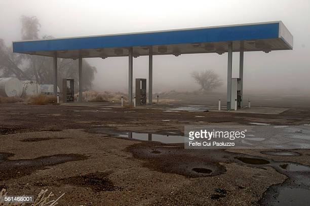 Abandoned gas station at Toyah Texas State USA