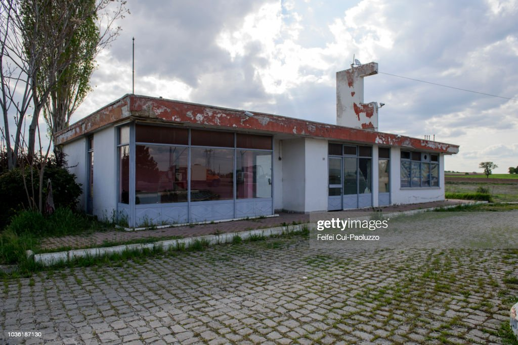 Abandoned Gas Station Near Anitkaya Of Afyonkarahisar Province Of Turkey High Res Stock Photo Getty Images