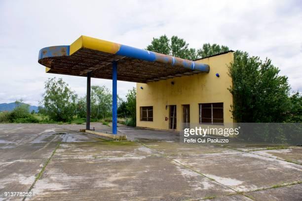 Abandoned gas station near Shkodër, Albania