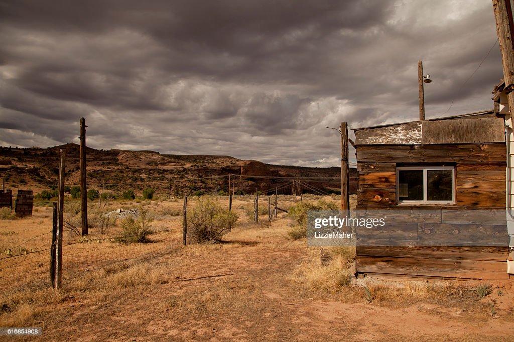 Abandoned gas station : Stock Photo
