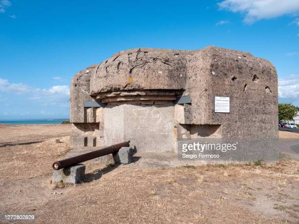abandoned german fortification, atlantic wall, world war ii, normandy, france - german military stock pictures, royalty-free photos & images