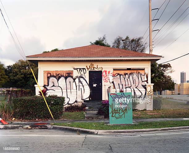 Abandoned Graffiti Covered Vandalized Miami Home