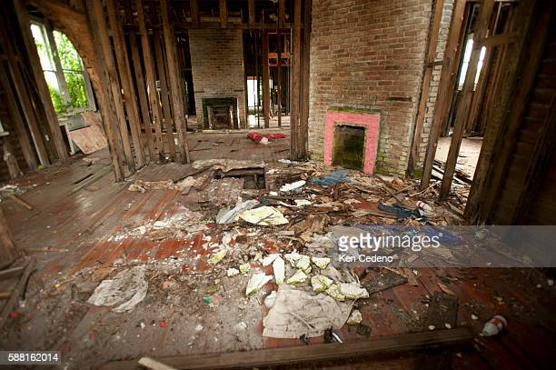 Abandoned homes sit July 15 2010 in the lower 9th ward of New Orleans five years after historical hurricane Katrina devastated the area Hurricane...