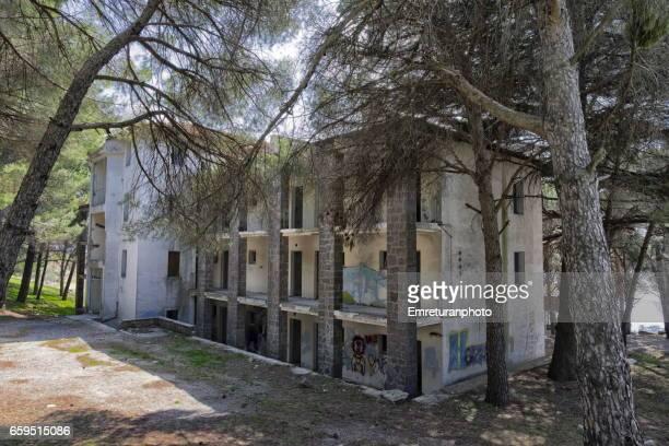 Abandoned hotel building at Yamanlar,Izmir.