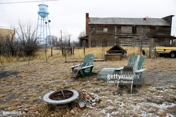 Abandoned house at Dubois, Idaho state, USA