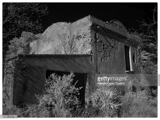 Abandoned House At Mont Roig Del Camp During Night