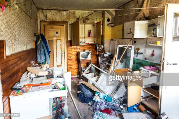 Abandoned house, full of garbage