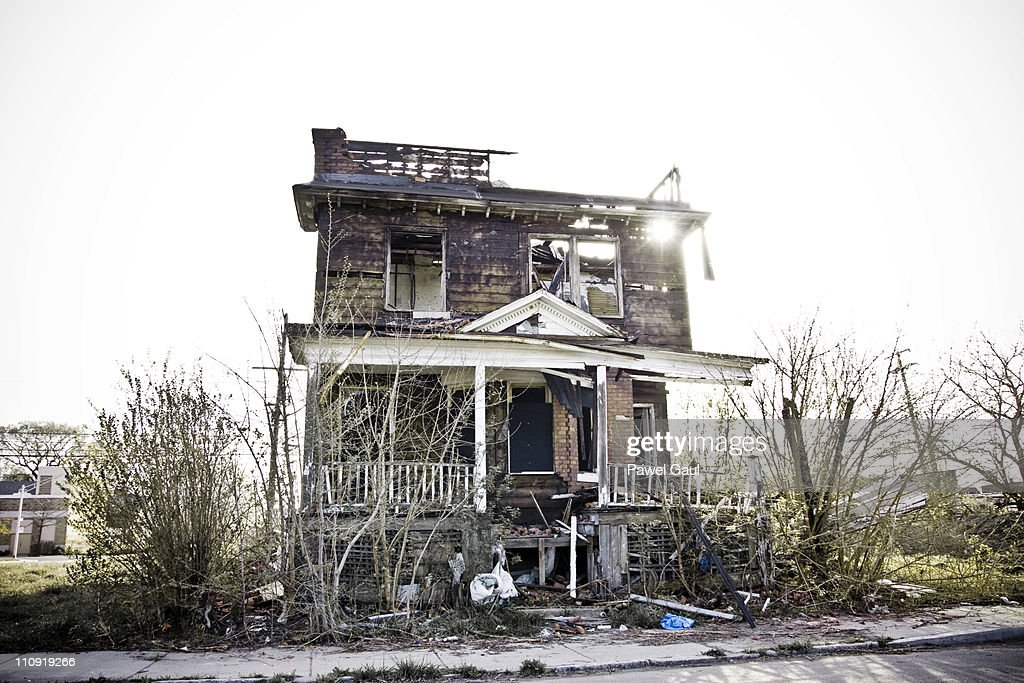 Abandoned house in Detroit, MI. : Stock Photo