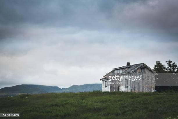Abandoned house in Leknes, Lofoten, Norway