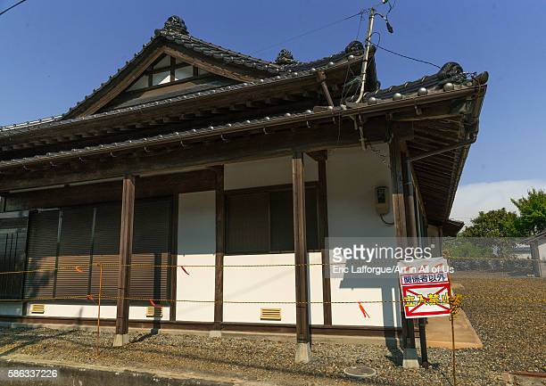 Abandoned house in the highly contaminated area after the daiichi nuclear power plant irradiation fukushima prefecture naraha Japan on May 22 2016 in...