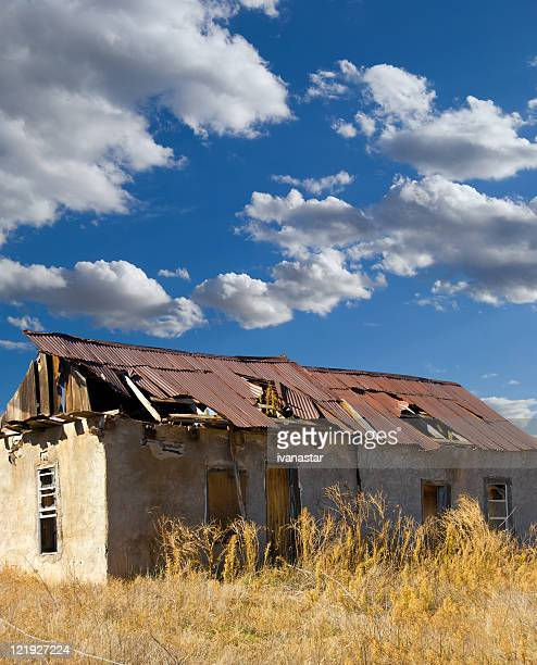 abandoned house - bad condition stock photos and pictures