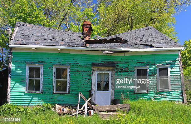 abandoned house - house collapsing stock pictures, royalty-free photos & images