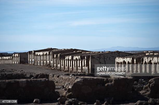 Abandoned houses in the Puelma nitrate camp in the outskirts of Antofagasta Chile on June 15 2015 The history of the nitrate came to an end in 1930...