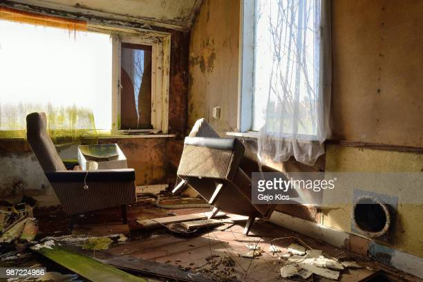 abandoned in oldeberkoop - demolished stock pictures, royalty-free photos & images