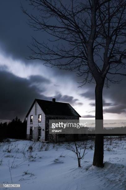 abandoned in twilight - abandoned stock pictures, royalty-free photos & images