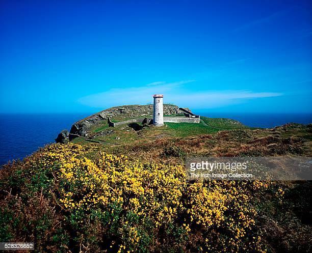 Abandoned lighthouse, Wicklow Head, Co Wicklow, Ireland