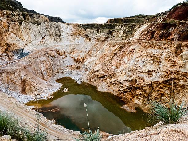 Abandoned limestone quarry.