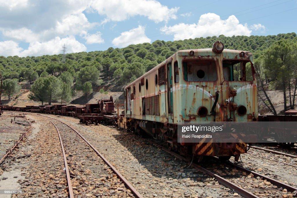 Abandoned locomotive : Foto de stock