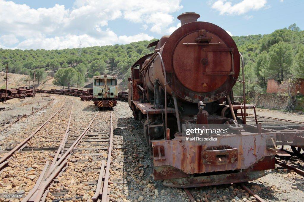 Abandoned locomotives : Foto de stock