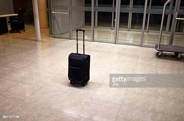 Abandoned luggage in building