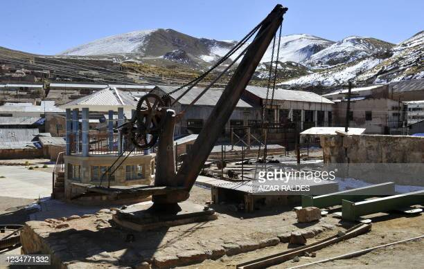 Abandoned machinery in Pulacayo, a former mining center near the Uyuni salt flat, in the Potosi department, Bolivia on July 20, 2011. The Uyuni salt...