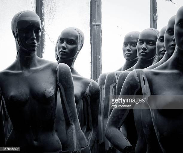 Abandoned mannequins