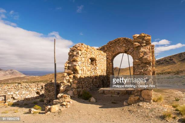 Abandoned Mine Structure In Desert Of The Andes