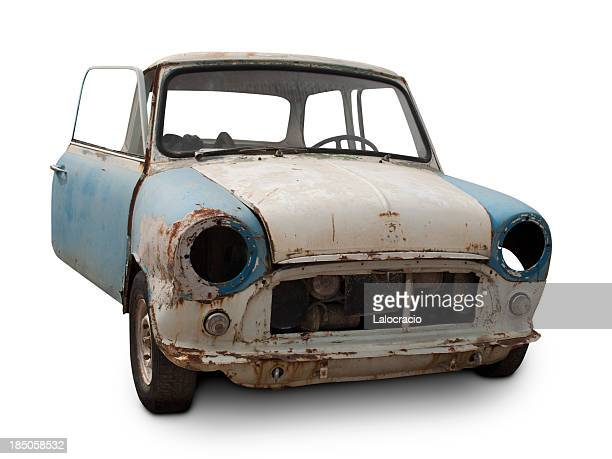 abandoned mini - obsolete stock pictures, royalty-free photos & images