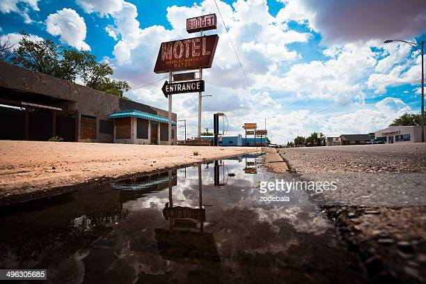 abandoned motel on route 66, usa - motel stock photos and pictures