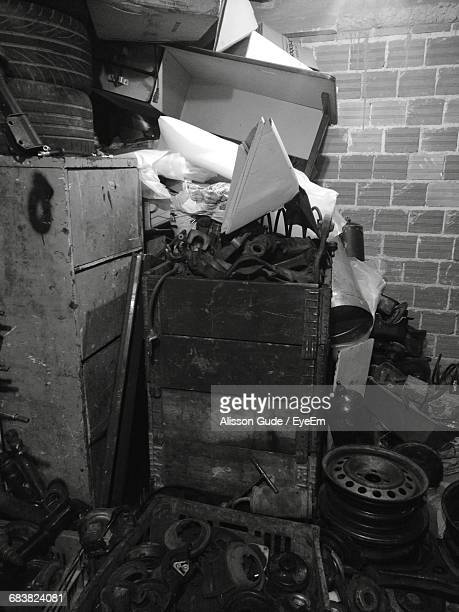 abandoned objects in storage room - alisson stock pictures, royalty-free photos & images