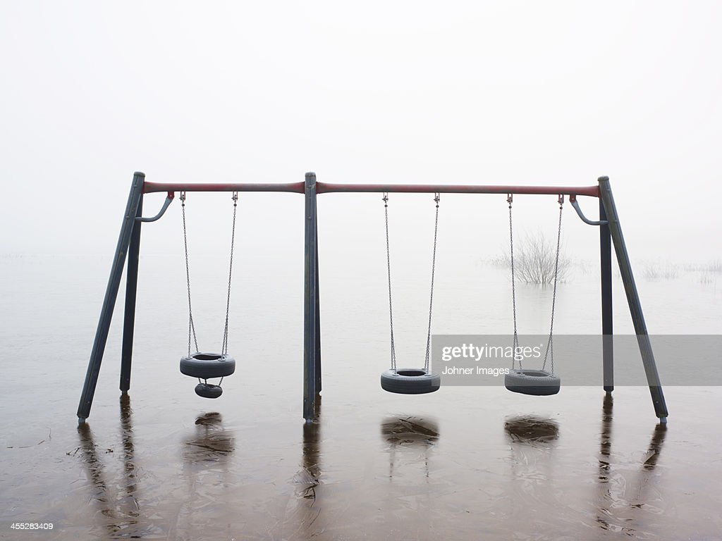 Abandoned playground : Stock Photo