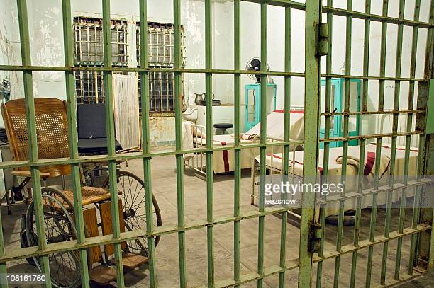 abandoned prison hospital - alcatraz island stock pictures, royalty-free photos & images