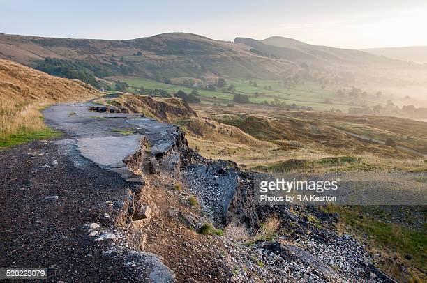 A625 abandoned road below Mam Tor