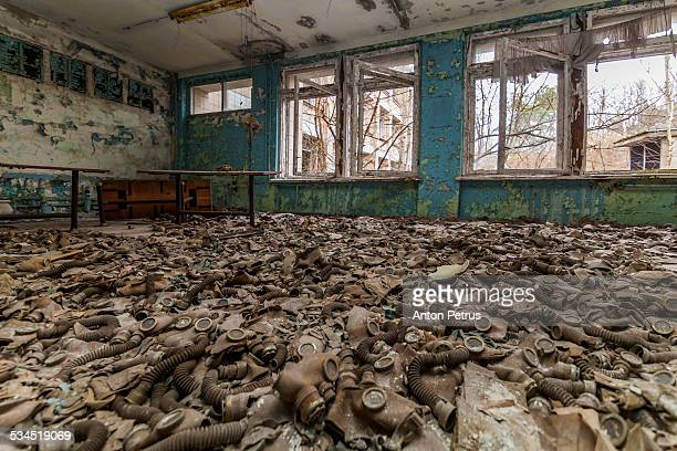 Abandoned school in the city of Pripyat, Ukraine