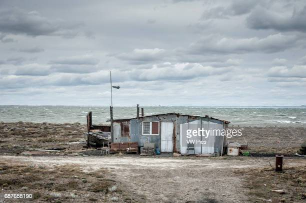 Abandoned Shack by the Shore patagonia Argentina