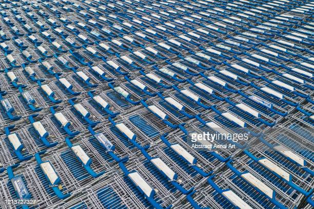 abandoned shopping carts shot from above, derbyshire, united kingdom - responsibility stock pictures, royalty-free photos & images