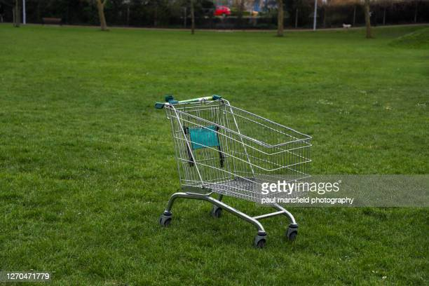 "abandoned shopping trolley - ""paul mansfield photography"" stock pictures, royalty-free photos & images"