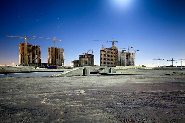 abandoned skyscrapers - construction sites Dubai