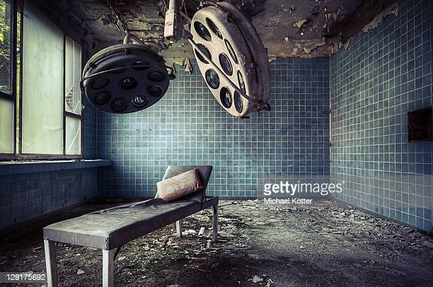 abandoned soviet hospital - abandoned stock pictures, royalty-free photos & images