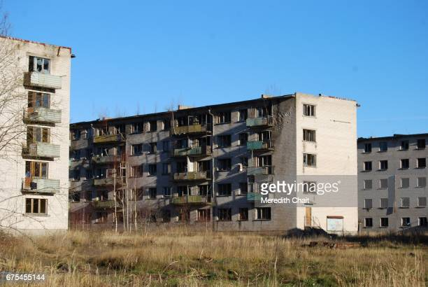 Abandoned Soviet Town Apartment Blocks