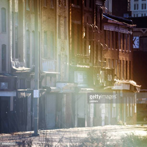 abandoned stores in east baltimore, maryland. - east stock pictures, royalty-free photos & images