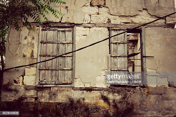 Abandoned structure with closed windows