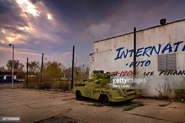 Abandoned tank in a car park north Detroit Known as the world's traditional automotive center Detroit is a metonym for the American automobile...