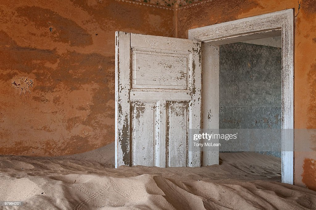 Abandoned to the dunes : Stock Photo